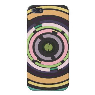 Abstract Tech Circles iPhone 5 Cases