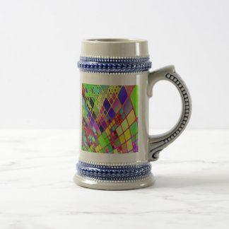 Abstract Technology Beer Steins