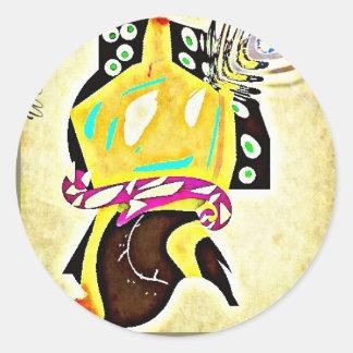 Abstract Temple Figure (Alternative Version) Round Sticker