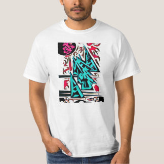 Abstract Temple Sanctuary (Black) T-Shirt