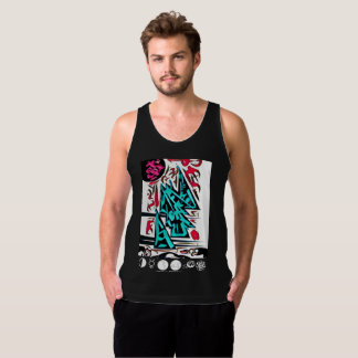 Abstract Temple Sanctuary (Jersey Tank) Singlet