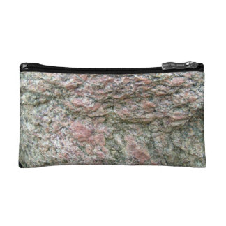 Abstract texture of Isolated Rock Makeup Bags