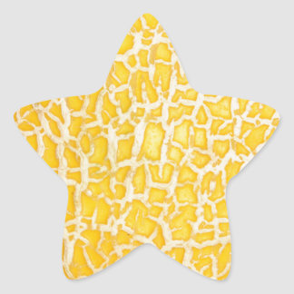 Abstract texture star sticker