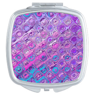 Abstract Textured Colorful Purple Pattern Mirror Mirror For Makeup