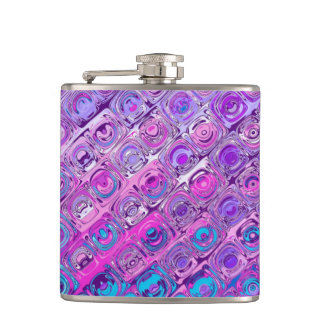 Abstract Textured Colorfull Purple Pattern Flask