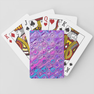 Abstract Textured Colorfull Purple Playing Cards