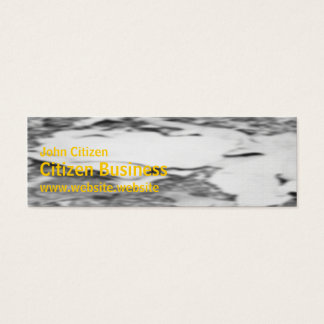 Abstract textured leaf litter mini business card