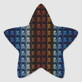 Abstract Texture's Star Sticker
