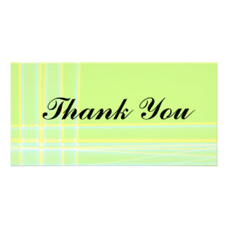 Abstract Thank You Photocard Card