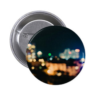 Abstract Themed, Blurry Lights And Blurred Buildin 6 Cm Round Badge