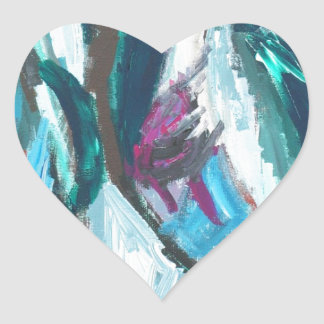 Abstract Three Graces (abstract expressionism) Heart Sticker
