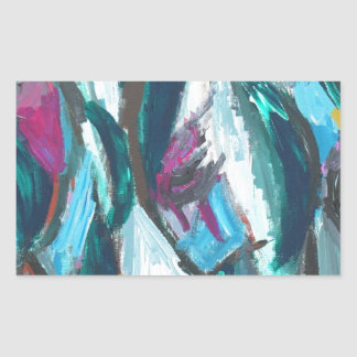Abstract Three Graces (abstract expressionism) Stickers