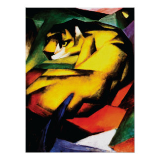 Abstract ~ Tiger by Franz Marc Poster