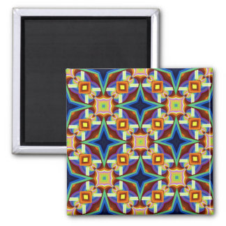 Abstract Tile Square Magnet