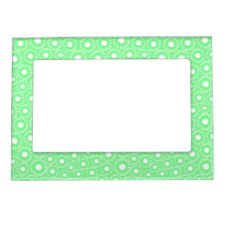 Abstract tiny floral magnetic picture frame