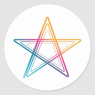 Abstract to sticker star