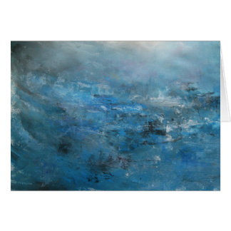 Abstract tranquil seascape card