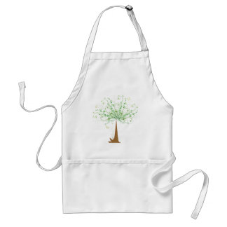 Abstract Tree and Butterflies Standard Apron