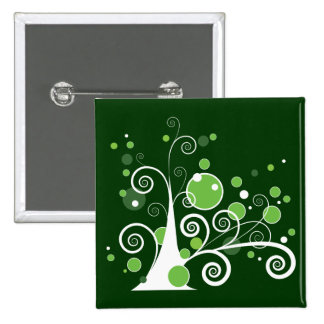 Abstract Tree 15 Cm Square Badge