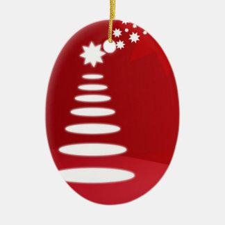 Abstract Tree Christmas Ornament