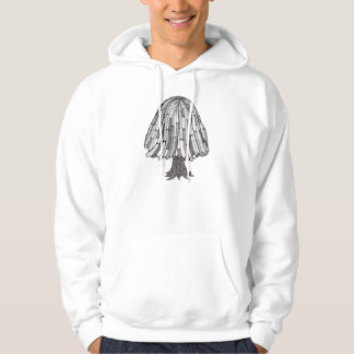 Abstract Tree Hooded Pullovers