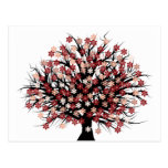 Abstract Tree Hugger Post Cards