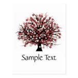 Abstract Tree Hugger Postcard