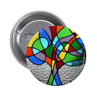 Abstract Tree of Life Badge Pins