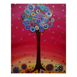 ABSTRACT TREE OF LIFE POSTERS