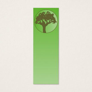 Abstract tree on green gradient mini business card