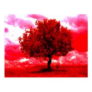 Abstract Tree Postcard