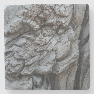 Abstract Tree Trunk Texture Stone Coaster