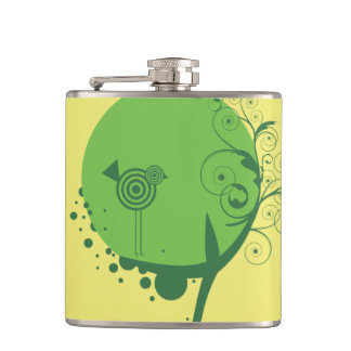 Abstract Tree Vinyl Wrapped Flask