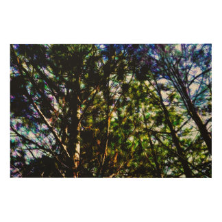 Abstract Trees 69 Wood Print
