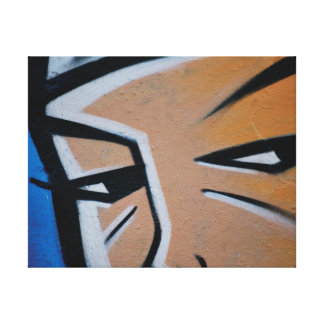 Abstract trendy graffiti close up photographic art canvas print