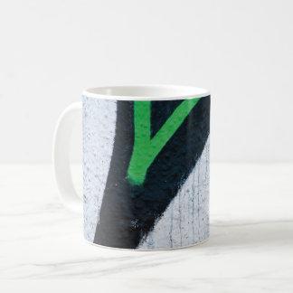 Abstract trendy graffiti close up photographic art coffee mug