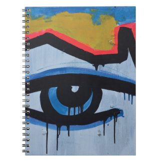 Abstract trendy graffiti close up photographic art spiral notebook