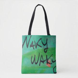 Abstract trendy graffiti close up photographic art tote bag