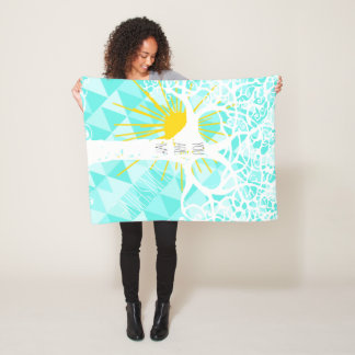 Abstract Trendy Wild and Free You Are My Sunshine Fleece Blanket