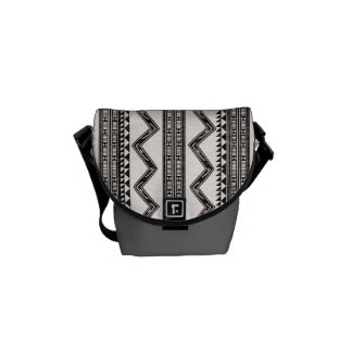 Abstract Triangle Messenger Bag