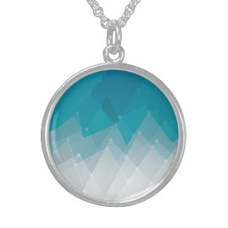Abstract Triangle Sterling Silver Round Necklace