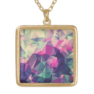 Abstract Triangle Tumblr Art Square Necklace