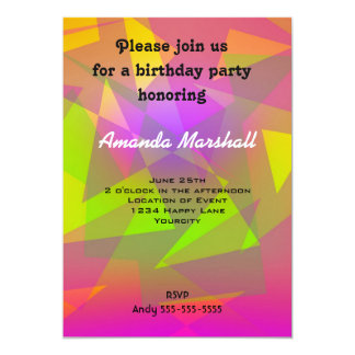 Abstract Triangles and Rectangles 13 Cm X 18 Cm Invitation Card