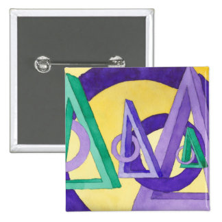 Abstract Triangles Pin