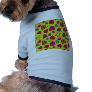Abstract triangles ringer dog shirt