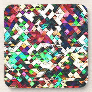 Abstract Triangles Graphic Beverage Coasters