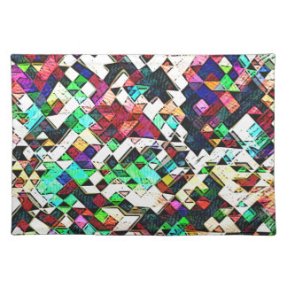 Abstract Triangles Graphic Placemat