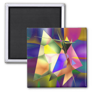 Abstract Triangles Magnet