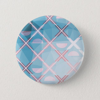 Abstract triangulate XOX Design 6 Cm Round Badge