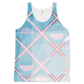 Abstract triangulate XOX Design All-Over Print Singlet